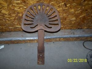 Mccormick Cast Iron Seat Bracket tractor disc plow mowing Machine collector