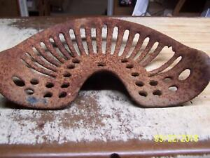 Cast Iron Seat tractor disc plow mowing Machine Collectors Item
