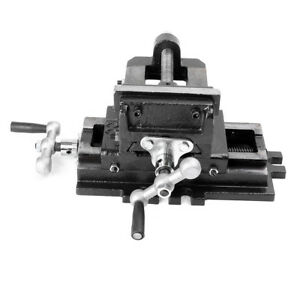4 Cross Slide Drill Press Vise Clamp 2 way Vises New Bench Top Holder Clamping