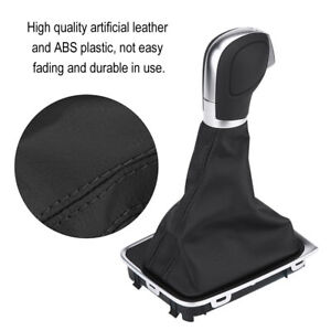 Black Car Gear Shift Knob Gaiter Boot Dust proof Cover For Golf 7 Gti 2015 2018
