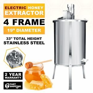 Electric Beekeeping Supplies Stainless Steel 4 Frame Honey Extractor Processor