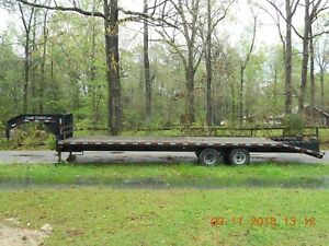 32 Flat Bed Trailer With 2 10 000 Oil Bath Axles