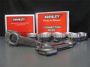 For Subaru Sti Ej257 Manley H Beam Connecting Rods 99 75mm 8 5 1 Forged Pistons