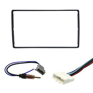 Radio Replacement Dash Install Kit 2 Din W Harness Antenna For Nissan Chevrolet