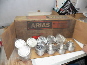 Arias Pistons Chevy 400 030 Overbore 5 7 Rods 442g W o Pins Qty 10 In The Set