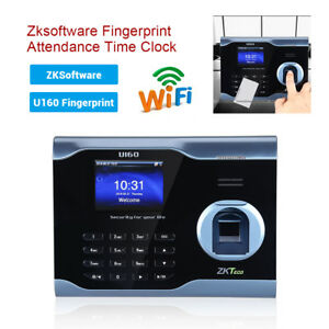 U160 Biometric Fingerprint Time Attendance Time Clock Time Recorder Us Stock
