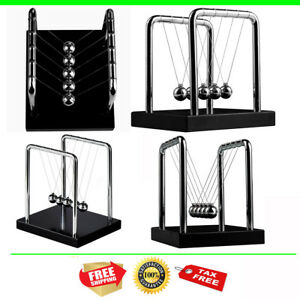 Perpetual Motion Toy Newton s Cradle Physics Steel Kinetic Ball Office Desk New