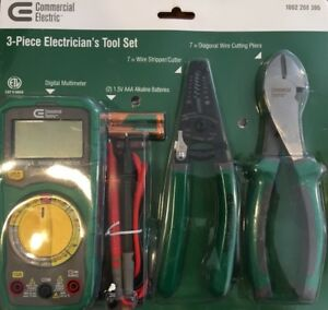 Commercial Electric 3 piece Electrician s Tool Set 1002208395