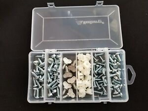 License Plate Screw Assortment 106 Pieces