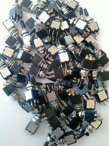 Fifty Dpdt Mini Toggle Switch Nos Japan