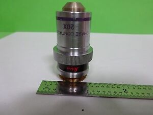 Microscope Part Objective Leica Phase Contrast 20x Optics As Is Bin y5 17