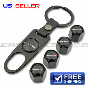 Dodge Valve Stem Caps Keychain Wheel Tire Black Us Seller Vs15