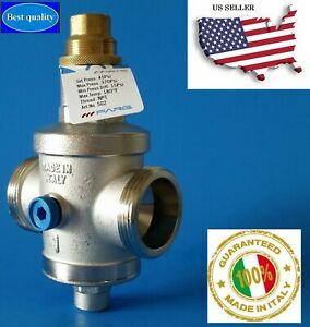 Water Pressure Reducing Regulator Valve 1 Npt Double Union made In Italy