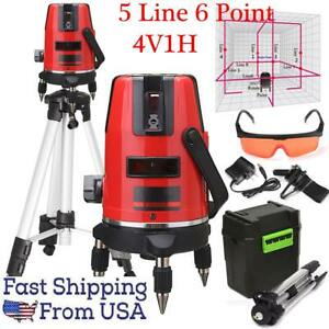 Hot Sale Red Automatic Self Leveling 5 Line 6 Point 4v1h Laser Level 360 new