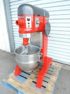 Hobart 60 Qt Mixer Model H 600 t 208v 3 Phase Red Used