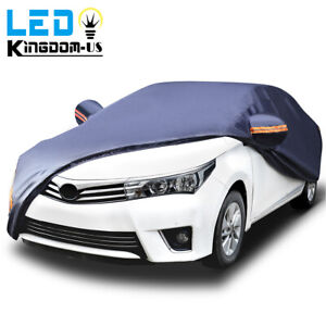 Universal Fit Car Cover Waterproof All Weather Protection Uv Sun Rain Resistant