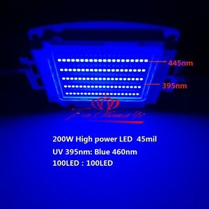200w 45mil Smd High Power Led Ultra Violet Uv 395nm Royal blue Uv blue 33 36v
