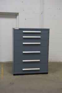 Used Vidmar 6 Drawer Cabinet Industrial Tool Storage 45 Wide 1267 Heavy Duty