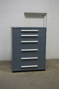 Used Gray Vidmar 6 Drawer Cabinet Industrial Tool Storage 45 Wide 1265 Lista