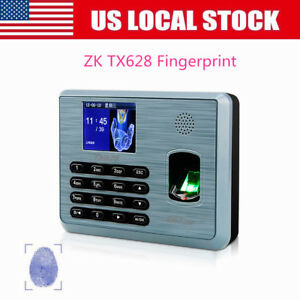 Zk Tx628 3 Multi Biometric Tft Fingerprint Attendance Time Clock tcp ip Silver