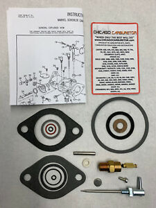 Zenith Model 13845d 1 Barrel Carburetor Repair Kit Ford Industrial Engines New