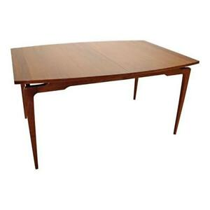 Mid Century Danish Modern Walnut Floating Top Sculptura Dining Table 14