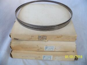 3 New And 1 Used Rockwell Band Saw Blades For Metal two 1 2 Blades