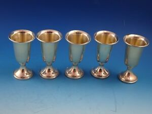 5 Sterling Silver Cordial Glasses 58 By Towle