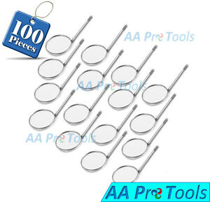 100 Dental Mouth Mirror 5 Plain High Quality Dental Orthodontic Instruments