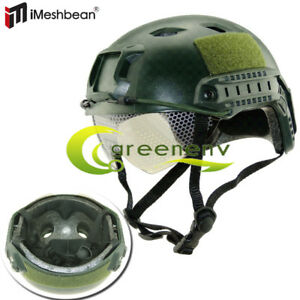Military Tactical Airsoft Paintball SWAT Combat Protective Fast Helmet W Goggle