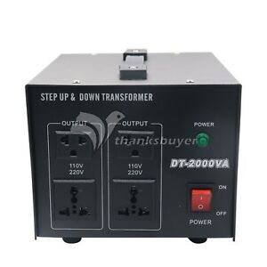 2kva Voltage Converter Transformer Step Up down Power 220v 110v 110v 220v Us