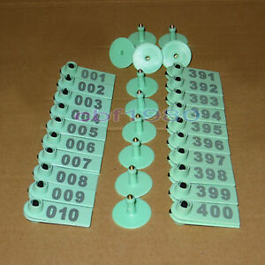 No 001 400 Light Green Ear Tag Livestock Tag For Animal Sheep Pig Goat Used