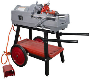 Ridgid 535 V2 Pipe Threader reconditioned With Cart And Ridgid Die Head