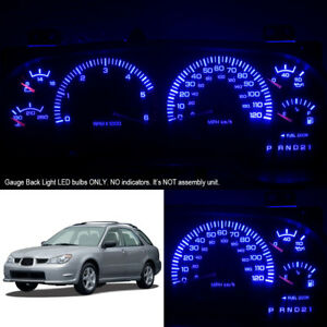 Super Blue Instrument Cluster Gauge Led Light Bulbs For 02 07 Subaru Impreza