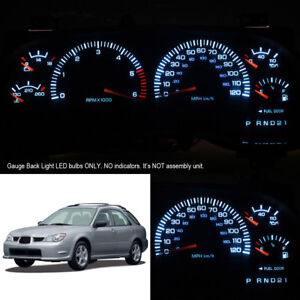 Super White Instrument Cluster Gauge Led Light Bulbs For 02 07 Subaru Impreza
