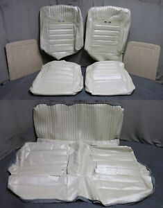 65 66 Mustang Pony Fastback Bucket Seat Rear Upholstery Reproduction White