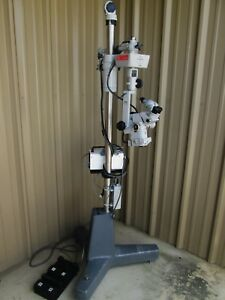 Carl Zeiss Opmi 6 s Surgical Microscope stand Foot Switch Prescott Ii Light