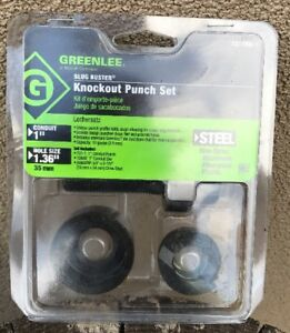 Greenlee 7211bb 1 Slug Buster Knockout Punch Set 1 Conduit
