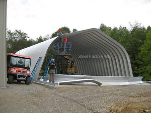 Steel Gambrel Arch 25x30x12 Construction Equipment Storage Building Kit A series