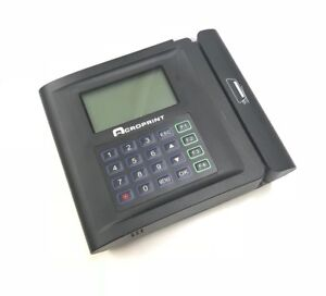Acroprint Tq600m Magnetic Stripe Time Clock Terminal Includes Over 70 Cards
