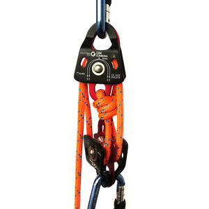 New Block And Tackle Systems 40kn Micro Double Pulley Double Braid Rope Ce