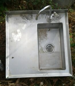 Used Commercial Wall Mount Stainless Steel Sink
