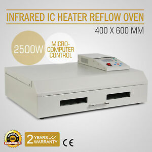 Infrared Smd Bga Ic Heater Automatic Reflow Oven Soldering Area 400 600mm
