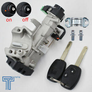 New Ignition Switch Cylinder Lock Auto Trans 2 Key For 06 11 Honda Civic Us