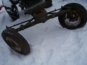 Original Ford 4000 Diesel Tractor wide Front Axle Wheels 1962