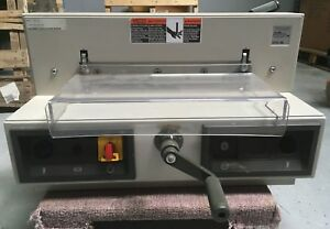 as is Ideal Triumph Mbm 3915 95 Semi automatic Paper Cutter