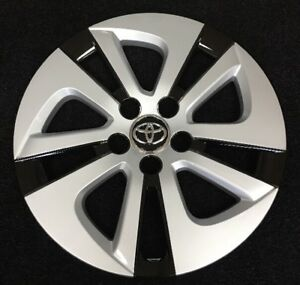 15 Silver Black Hubcap Wheelcover Am Fits 2016 2018 Toyota Prius