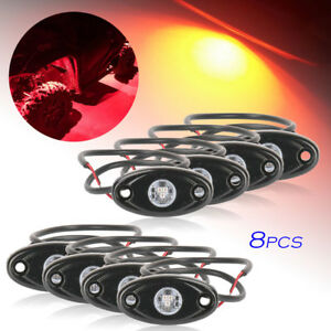 Red Led Rock Light Fits Jeep Atv Off road Truck Golf Under Body Trail Rig Lamp