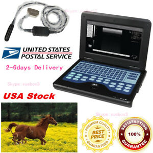 Contec Portable Veterinary Ultrasound Scanner Laptop 7 5m Rectal Probe usa Fedex