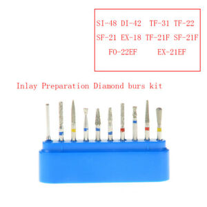 Dental Fg 104 High Speed Handpiece Diamond Burs Drill Inlay Preparation Azdent